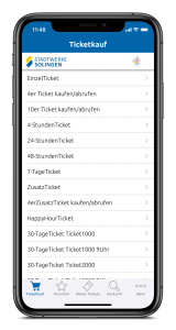 Ticketkauf-Solingen-iPhoneX